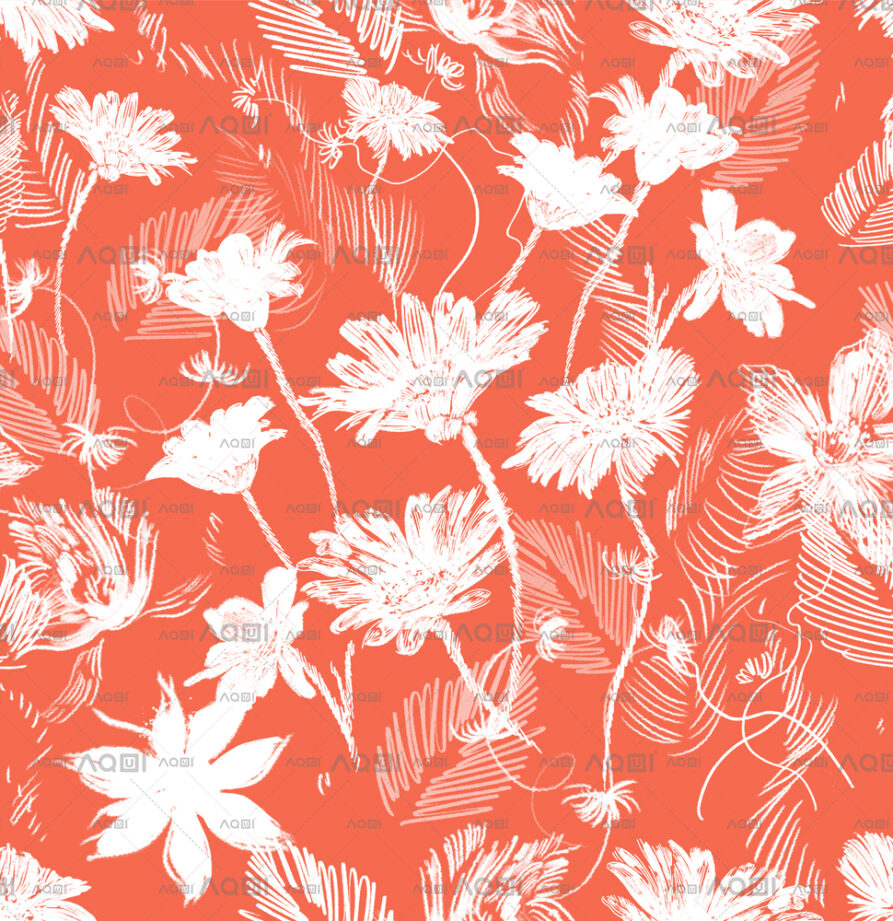 """Seamless Repeated Design """"Floral Party d3"""" Li. Classic"""