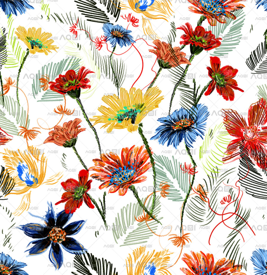 """Seamless Repeated Design""""Floral Party"""" Li. Classic"""